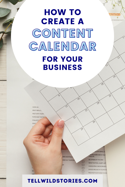 a great tool to plan your content, set feasible deadlines and keep yourself on track.